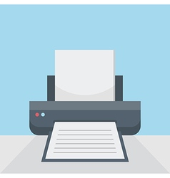 Printer on table vector