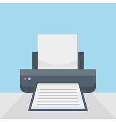 Printer on table vector image