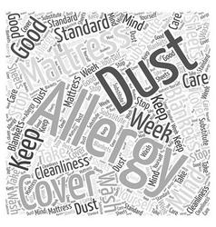 Allergy mattress cover word cloud concept vector