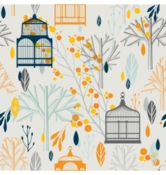 Autumn pattern in retro style vector image vector image