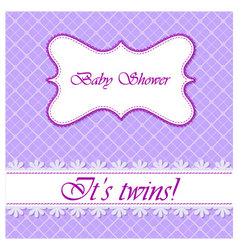 Baby-shower-with-cell-pattern-twins vector