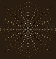 Background golden spiderweb vector