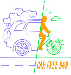 banner world car free day vector image vector image