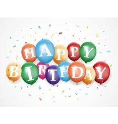 Birthday balloon background vector image