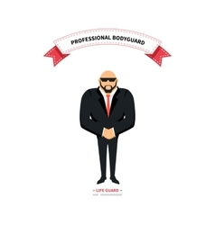Bodyguards team people group flat style vector