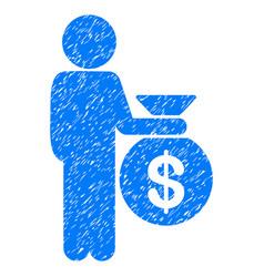 Child investor grunge icon vector