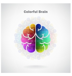 Creative colorful left and right brain idea concep vector