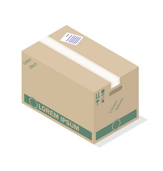 delivery box icon isometric style vector image vector image