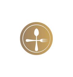 dinner spoon food logo vector image