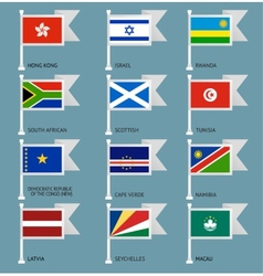 Flags set four-10 vector