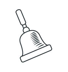 Handdraw icon bell vector
