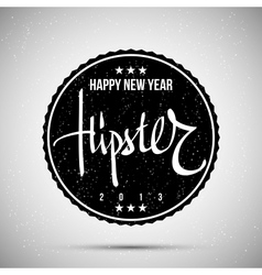 Hipster New Year 2013 vector image vector image