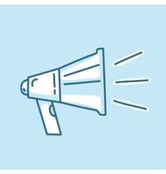 Line icon loud megaphone marketing promotion vector