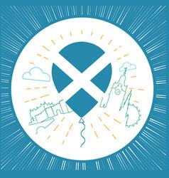 Logo for travel to scotland circle vector
