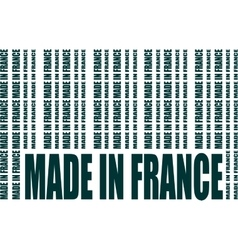 Made in france text and bar code from same words vector