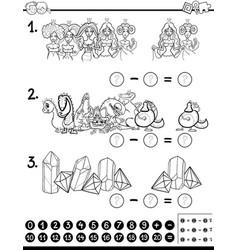 Mathematical activity coloring book vector
