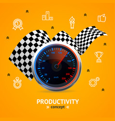 motivation and productivity concept with vector image vector image