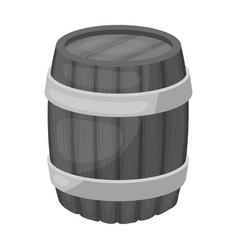 Oak barrel beer a barrel in which beer is brewed vector