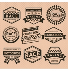 Racing insignia vector image vector image