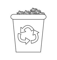 recycling bin icon vector image vector image