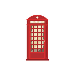 Red phone booth vector