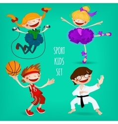 Set of sportive kids vector