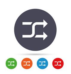 Shuffle sign icon random symbol vector