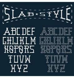 Slab style alphabet vector
