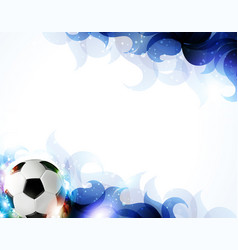 Soccer ball with abstract blue petals vector