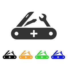 Swiss knife icon vector