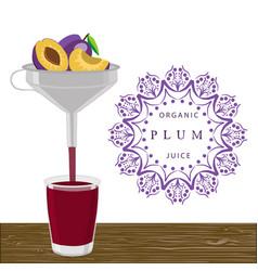 The theme plum vector