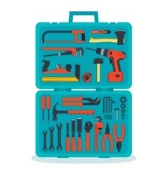 Tools in a tools box vector image