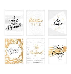 Trendy calligraphic quotes vector image vector image