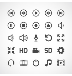 Video interface icon on white vector
