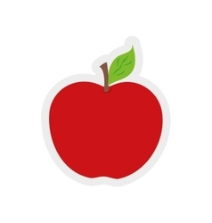 apple leaf fruit healthy icon graphic vector image