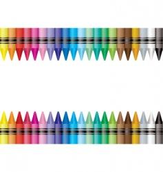 border crayon vector image