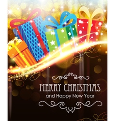 Christmas presents on holiday background vector