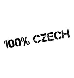 100 percent czech rubber stamp vector