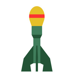 Missile rocket icon cartoon vector