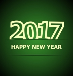 2017 happy new year on dark green background vector