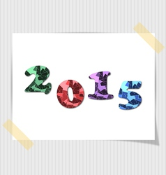 2015 happy new year card vector