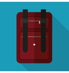 Summer vacation suitcase vector