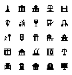 City elements icons 9 vector