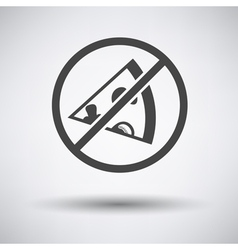 Prohibited pizza icon vector