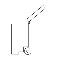 Trash bin icon outline style vector