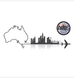 Commonwealth of australia skyline buildings vector