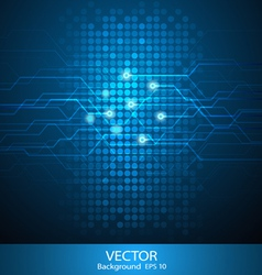 Abstract circuit background vector image vector image