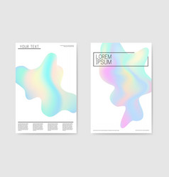 Abstract poster holographic forms background vector