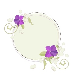 Apple and petunia flowers beautiful fame vector