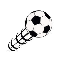 balloon soccer isolated icon vector image vector image